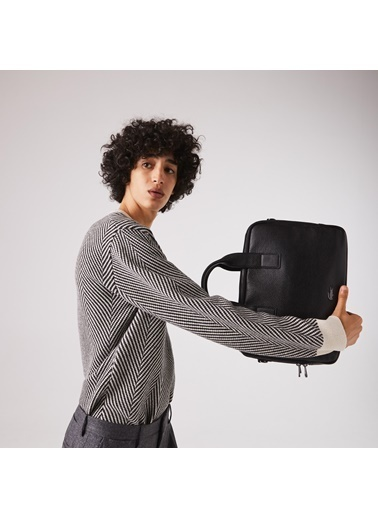 Lacoste Erkek Soft Mat Laptop /Evrak Çantası NH3279SQ.000 Siyah